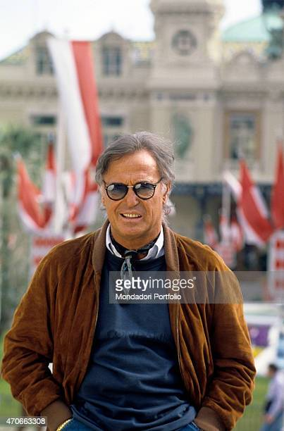 Italian singersongwriter Franco Califano posing hands in pockets Monaco 1994
