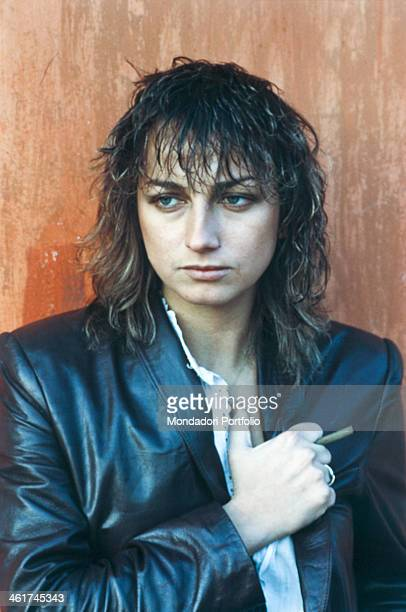 Italian singersongwriter Gianna Nannini posing with a cigar between her fingers 1980