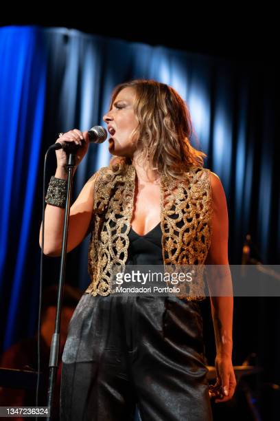 Italian singer-songwriter Irene Grandi in concert at Blue Note with the show Io in blues. Milan , October 16th, 2021