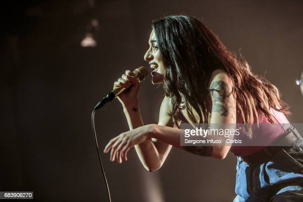 Italian singer-songwriter Levante, born Claudia Lagona, performs on stage at Alcatraz on May 16, 2017 in Milan, Italy.