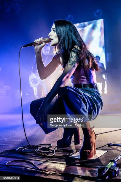 Italian singersongwriter Levante born Claudia Lagona performs on stage at Alcatraz on May 16 2017 in Milan Italy
