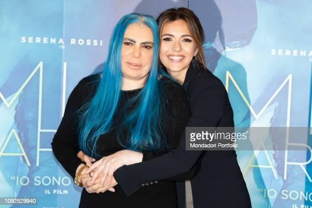 Italian singersongwriter Loredana Bertè and italian actress Serena Rossi at the press conference for the presentation of the film Io sono Mia...