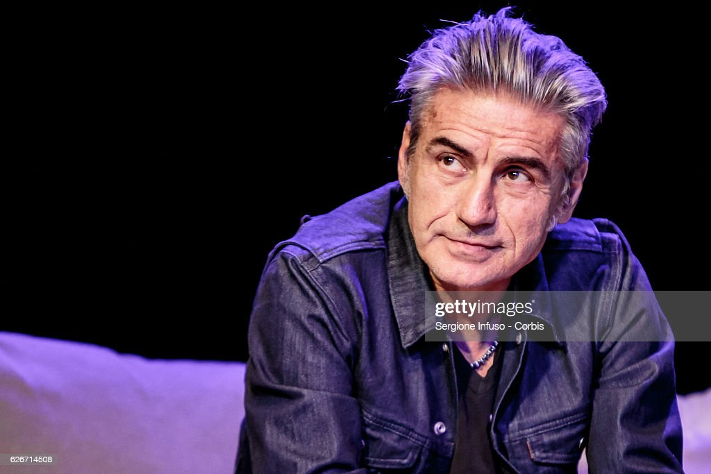 Italian singer-songwriter Luciano Ligabue is a guest of the show 'Sottosopra': Roberto Saviano Meets The Audience on November 28, 2016 in Milan, Italy.