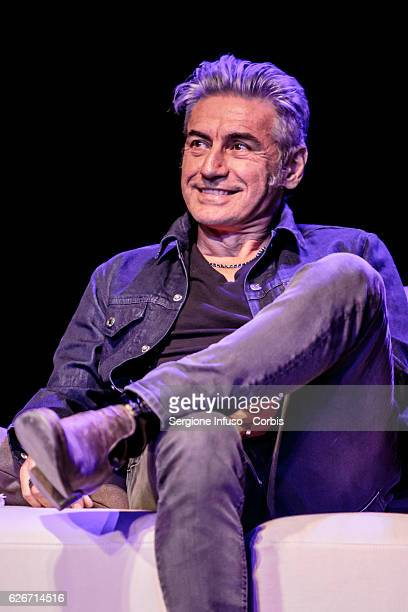 Italian singersongwriter Luciano Ligabue is a guest of the show 'Sottosopra' Roberto Saviano Meets The Audience on November 28 2016 in Milan Italy