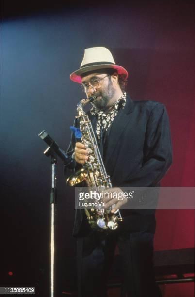 Italian singer-songwriter Lucio Dalla, Rome, Italy, 1987.