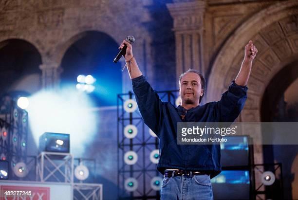 Italian singersongwriter Marco Masini performing at Festivalbar Italy 1993