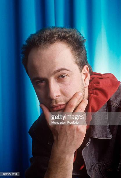 Italian singersongwriter Marco Masini posing for a photo session during the 41st Sanremo Music Festival Sanremo February 1991