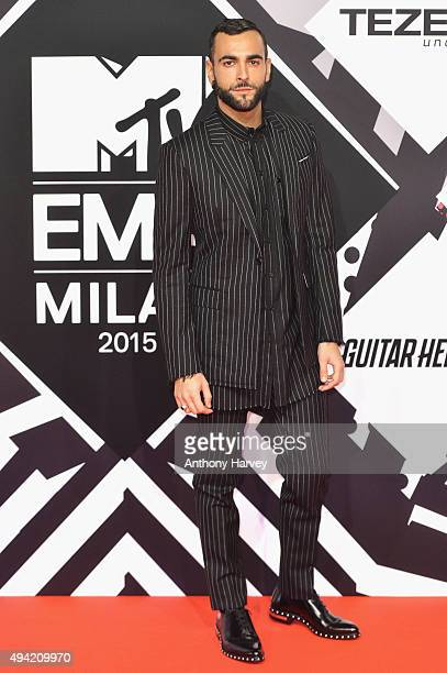 Italian singer-songwriter Marco Mengoni attends the MTV EMA's 2015 at the Mediolanum Forum on October 25, 2015 in Milan, Italy.