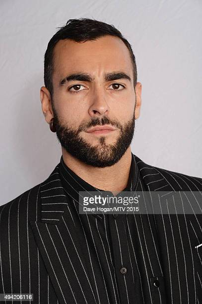 Italian singer-songwriter Marco Mengoni poses for a portrait before the MTV EMA's at the Mediolanum Forum on October 25, 2015 in Milan, Italy.