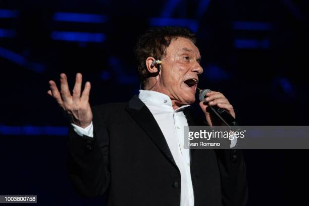 Italian singersongwriter Massimo Ranieri performs on stage at Arena Del Mare on July 19 2018 in Salerno Italy