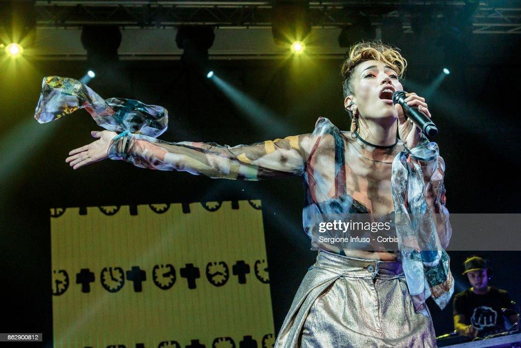 Nina Zilli Performs In Milan