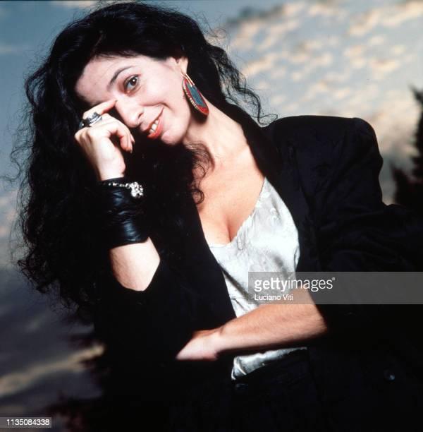 Italian singersongwriter Teresa De Sio circa 1985