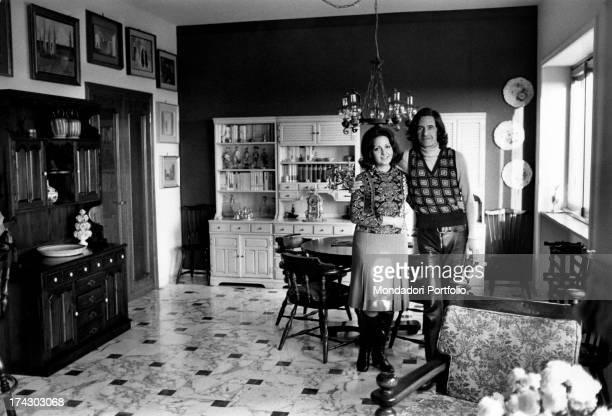Italian singersongwriter Tony Cucchiara Salvatore Cucchiara's pseudonym poses with his wife Nelly Fioramonti born Maria Grazia Fioramonti in the...