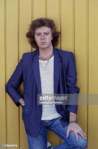 Italian singer-songwriter Umberto Tozzi with one hand in pocket. 1979