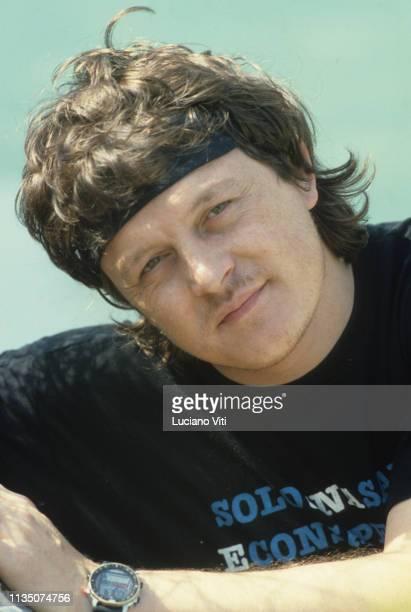 Italian singersongwriter Zucchero Fornaciari Rome Italy 1987