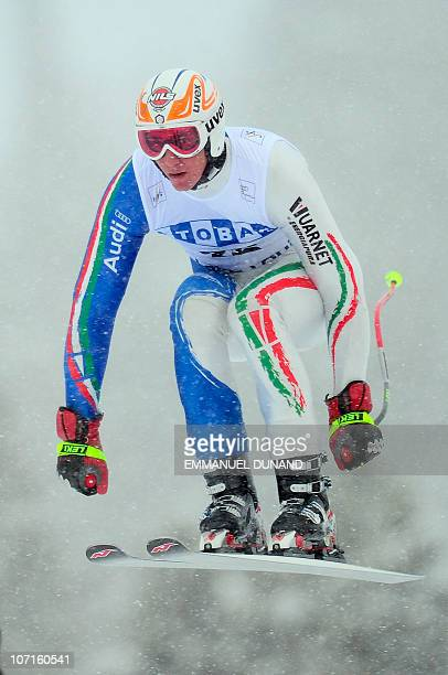 Italian skier Siegmar Klotz races during the third training of the Men's Downhill during the FIS Ski World Cup in Lake Louise Canada November 26 2010...