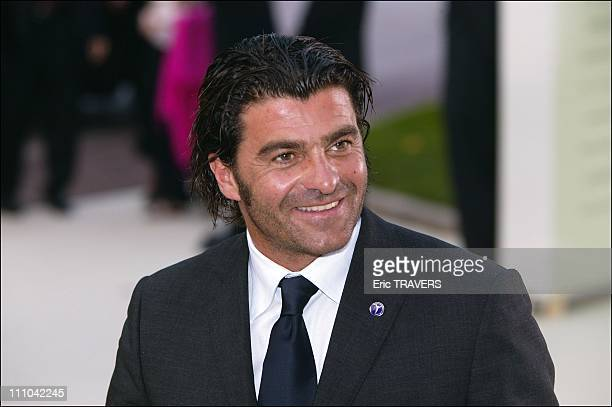 Italian skiier Alberto Tomba at Laureus awards in Monaco city Monaco on May 19 2003