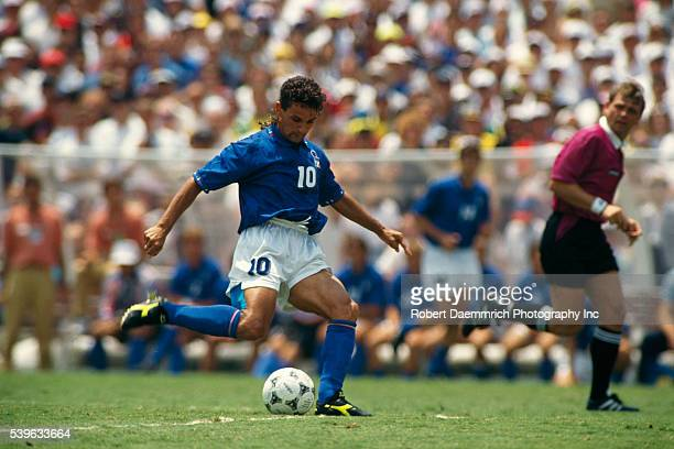 Italian soccer player Roberto Baggio during the final of the 1994 FIFA World Cup