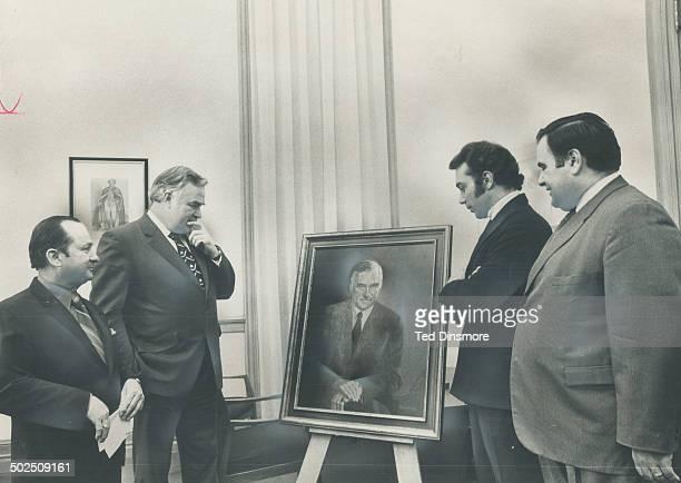 Italian society gives portrait to John Robarts. The Italian Immigrant Aid Society presented former premier John Robarts with an oil portrait of...