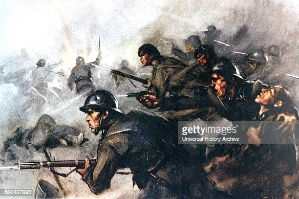 Italian soldiers fighting for the nationalists in Spain during the Spanish Civil War