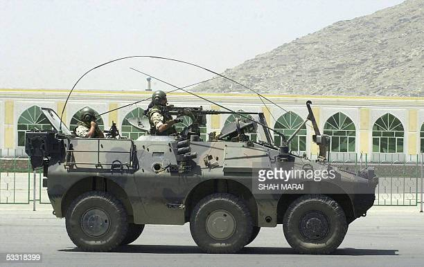 Italian soldiers of the International Security Assistance Force patrol the streets of Kabul 03 August 2005 Austria was set to send a contingent of 93...