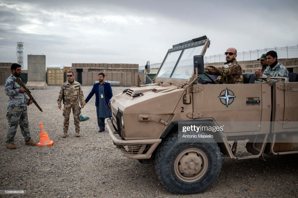 The Italian Army Takes Part In NATO Mission Resolute Support : News Photo