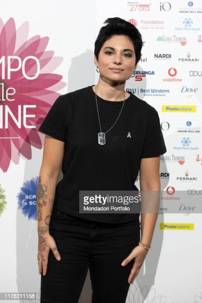 Italian songwriter Giordana Angi guest on the second day of Il Tempo delle Donne at Milan Triennale. Milan , September 14th, 2019