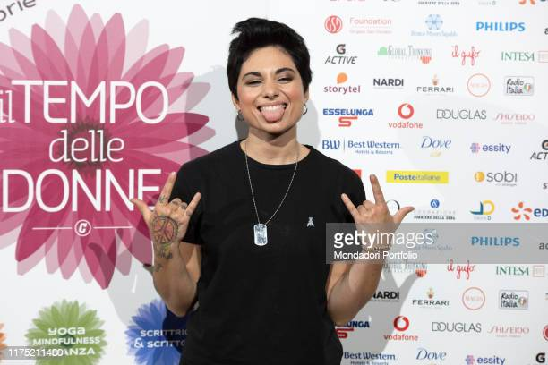Italian songwriter Giordana Angi guest on the second day of Il Tempo delle Donne at Milan Triennale Milan September 14th 2019