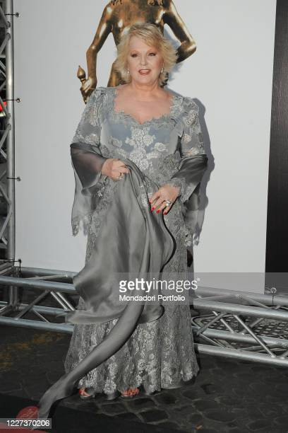 Italian soprano and actress Katia Ricciarelli on the red carpet of the Conciliazione Auditorium for the David di Donatello evening on May 08, 2009 in...