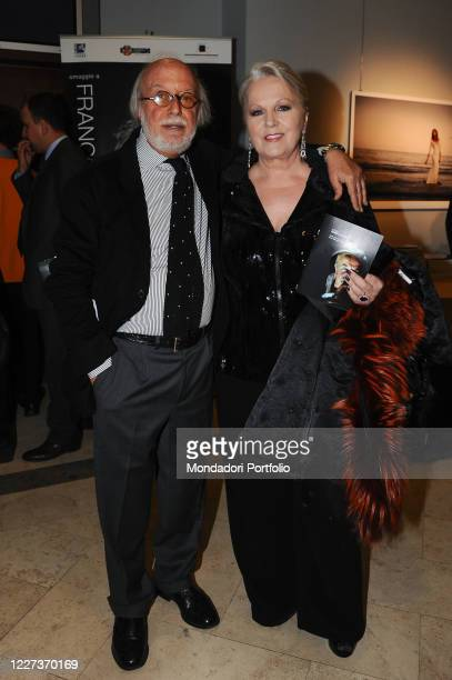 Italian soprano and actress Katia Ricciarelli with the director of the Rome Film Festival Adriano Pintaldi on the occasion of the evening of honor...