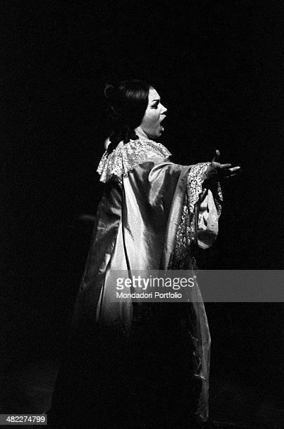 Italian soprano Mirella Freni acting in the opera La Traviata Milan 1964