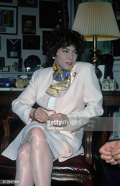 Italian Speaker of the House Irene Pivetti on September 27 1995 in New York New York