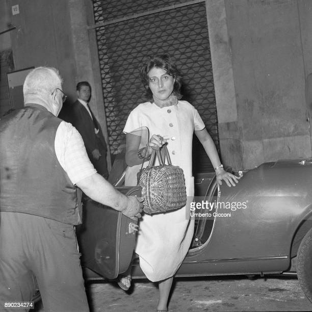 Italian stage and film actress Anna Magnani in Via Veneto Rome 1958