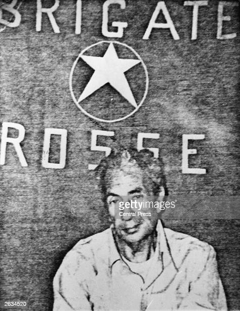 Italian statesman and prime minister Aldo Moro after his abduction by leftwing terrorists the Red Brigade who subsequently murdered him