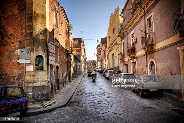 italian streetlife - catania stock photos and pictures