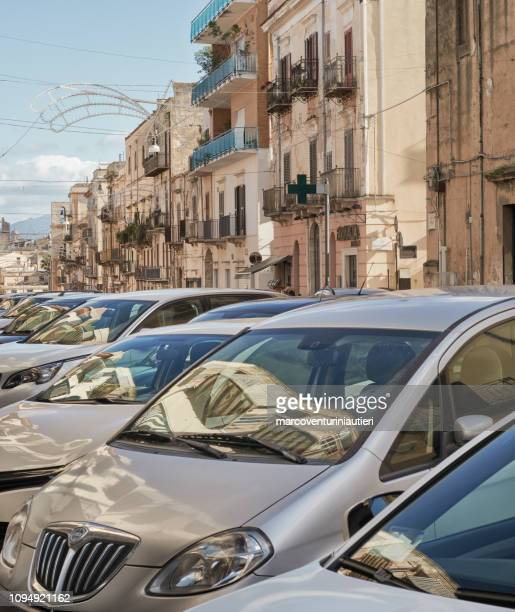 Italian streets filled with cars