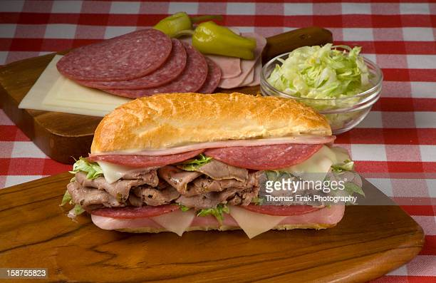 italian style submarine sandwich -  firak stock pictures, royalty-free photos & images