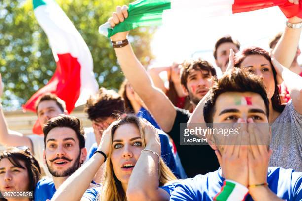 italian supporters during a football match - italy football stock photos and pictures