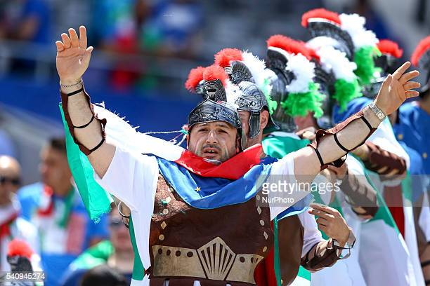 Italian supporters during the UEFA EURO 2016 Group E match between Italy and Sweden at Stadium Municipal on June 17 2016 in Toulouse France