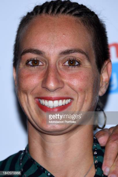 Italian swimmer Rachele Bruni on the blue carpet of the Gala I Meravigliosi, an event organized by the Italian swimming federation to celebrate the...