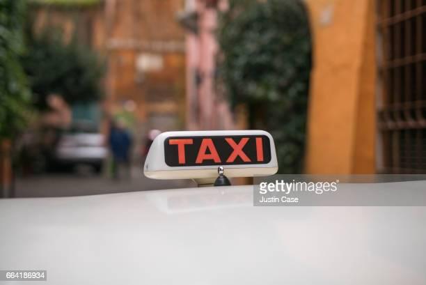Italian taxi waiting in the street