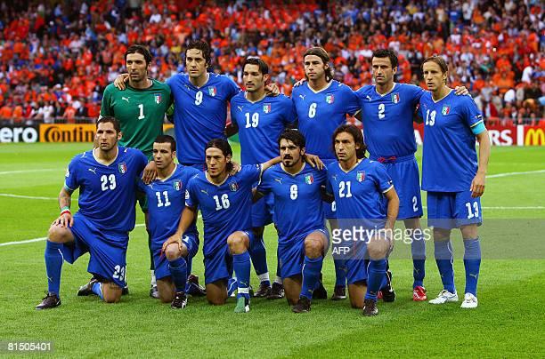 Italian team Gianluigi Buffon Luca Toni Gianluca Zambrotta Andrea Barzagli Christian Panucci Massimo Ambrosini Marco Materazzi Antonio Di Natale...