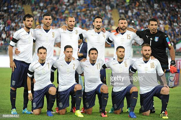Italian team of the international friendly match between Italy and France at Stadio San Nicola on September 1 2016 in Bari Italy