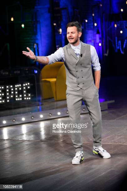 Italian Television Personality Alessandro Cattelan attends E Poi C'e' Cattelan tv show at Teatro Parenti on October 16 2018 in Milan Italy