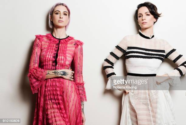 Italian television presenter Andrea Delogu and DJ Ema Stokholma is photographed for Self Assignment on January 2018 in Rome Italy