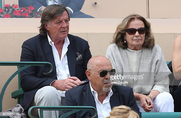 Italian tennis champion Adriano Panatta attends the final of the 2016 MonteCarlo Rolex Masters at MonteCarlo Country Club on April 17 2016 in...