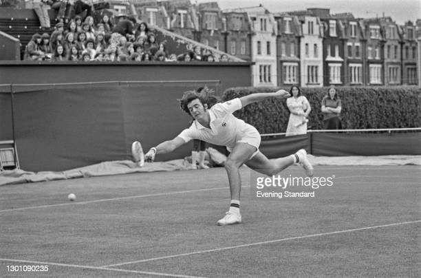 Italian tennis player Adriano Panatta at the Queen's Club Championships in London, UK, 20th June 1973.