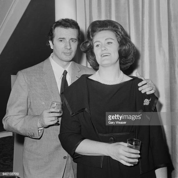 Italian tenor Franco Corelli and Australian soprano Joan Sutherland at a press conference for Corelli in London, 18th May 1966. Corelli will perform...