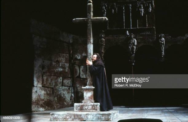 Italian tenor Luciano Pavarotti performs in the Metropolitan Opera production of 'La Favorita' February 17 1978