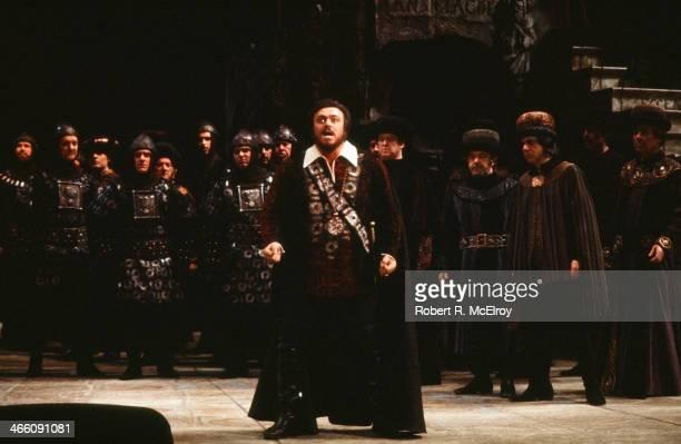 Italian tenor Luciano Pavarotti performs in the Metropolitan Opera production of 'La Favorita,' February 17, 1978.